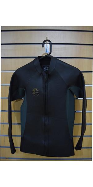 2018 O'Neill O'Riginal 2mm GBS Front Zip Glideskin Jacket green / black SECOND