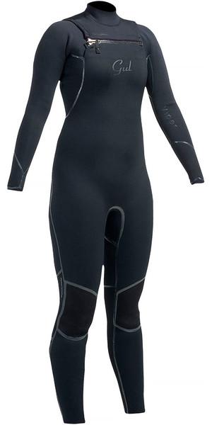 Gul Ladies Viper 3/2mm Chest Zip Wetsuit Black VR1229 - 2ND