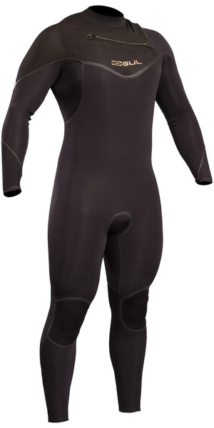 2018 GUL Viper Pro 5/4mm Chest Zip GBS Wetsuit BLACK VR1242-B5