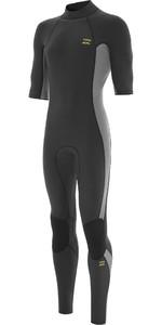 2021 Billabong Mens Absolute 2mm Back Zip GBS Short Sleeve Wetsuit W42M62 - Charcoal