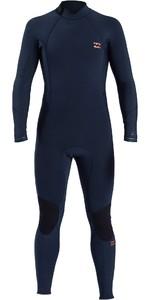 2021 Billabong Mens Absolute 3/2mm Back Zip Wetsuit W43M55 - Slate Blue