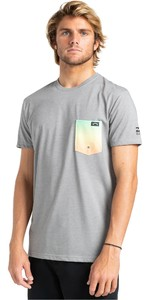 2021 Billabong Mens Team Pocket T-Shirt W4EQ06 - Grey Heather