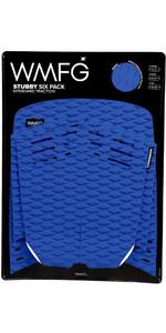 2019 WMFG Stubby Six Pack Kiteboard Traction Pad BLAU / WEISS 170005