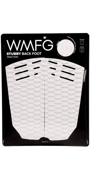 2019 WMFG Stubby Back Foot Traction Pad White / Black 170020