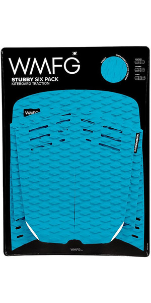 2019 WMFG Stubby Six Pack Kiteboard Traction Pad Teal 170005