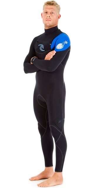 Rip Curl E-bomb 5/4/3mm Gbs Chest Zip Wetsuit Blue Wsm5ce Picture