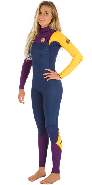 Rip Curl Womens G-bomb 3/2mm Gbs Zip-free Wetsuit Orange Wsm5hg Picture