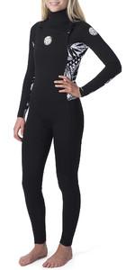 2020 Rip Curl Womens Dawn Patrol 5/3mm Chest Zip Wetsuit Black WSM9AS