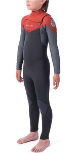 2019 Rip Curl Junior Dawn Patrol 3/2mm Chest Zip Wetsuit Burnt Orange WSM9KB