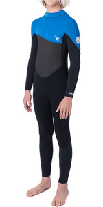 2019 Rip Curl Junior Omega 4/3mm GBS Back Zip Wetsuit Blue WSM9RB