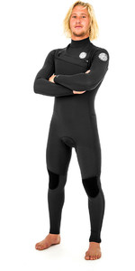 2019 Rip Curl Aggrolite 4/3mm Chest Zip Wetsuit BLACK WSM9RM