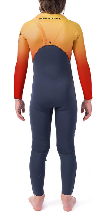 2019 Rip Curl Junior Flashbomb 4/3mm Zipperless Wetsuit Orange WSM9WU