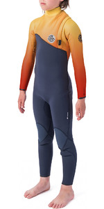 2019 Rip Curl Junior Flashbomb 3/2mm Zipperless Wetsuit Orange WSM9VU