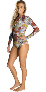 2019 Rip Curl Womens G-Bomb 1mm Long Sleeve High Cut Shorty Wetsuit MultiColour WSP9TW