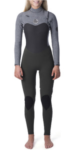 2019 Rip Curl Womens Flashbomb 4/3mm Chest Zip Wetsuit Khaki WST9FG
