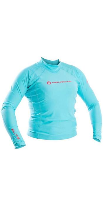 Neil Pryde Womens Elite Long Sleeve Rash Vest Sky Blue WUKRSB943