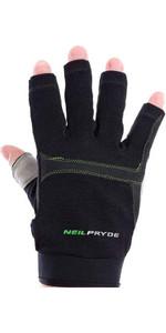 2018 Neil Pryde Junior Regatta Half Finger Sailing Gloves Black WUKSAGGH