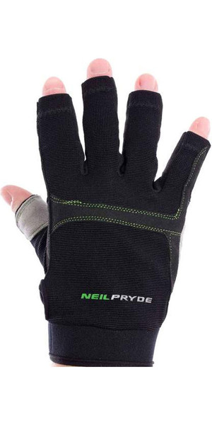 2018 Neil Pryde Junior Regatta Half Finger Sailing Gloves Black WUKSAGGH