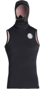 2019 Rip Curl Flashbomb 0.5mm Hooded Vest Black WVE7BF