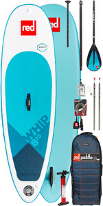 2019 Red Paddle Co Whip 8'10 Inflatable Stand Up Paddle Board + Bag, Pump, Paddle & Leash