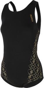2021 Zone3 Womens Iconic Classic Costume SW20WIC - Black / Grey / Gold