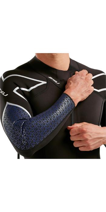 2020 2XU Mens Pro Swim-Run SR1 Wetsuit Black / Blue Surf Print MW5479c