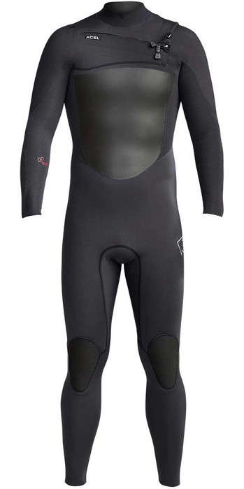 2020 Xcel Mens Infiniti 3/2mm Chest Zip Wetsuit MR323Z19 - Black
