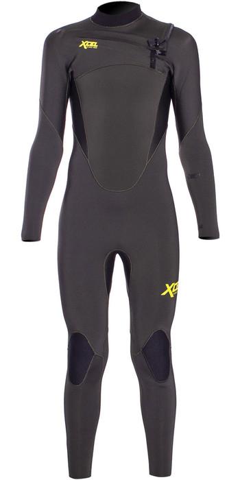 2020 Xcel Junior Comp 4/3mm Chest Zip Wetsuit KN43ZXC9 - Dark Forest