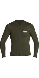 2020 Xcel Mens Axis 1mm Long Sleeve Front Zip Neoprene Top MN16NAX9 - Dark Forest