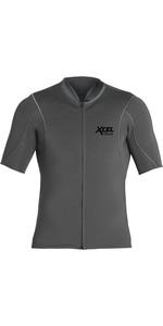 2021 Xcel Mens Axis 1mm Short Sleeve Front Zip Neoprene Top MN15NAX9 - Graphite