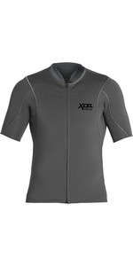 2020 Xcel Mens Axis 1mm Short Sleeve Front Zip Neoprene Top MN15NAX9 - Graphite