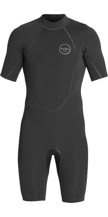 2021 Xcel Mens Axis 2mm Back Zip Shorty Wetsuit MN210AX9 - Black