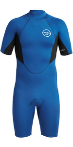 2021 Xcel Mens Axis 2mm Back Zip Shorty Wetsuit MN210AX9 - Blue