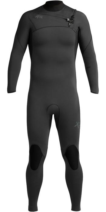 2020 Xcel Mens Comp 3/2mm Chest Zip Wetsuit MN32ZXC9 - Black