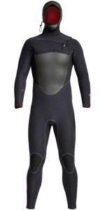 2020 Xcel Mens Drylock X 5/4mm Hooded Chest Zip Wetsuit MC54HPNO - Black