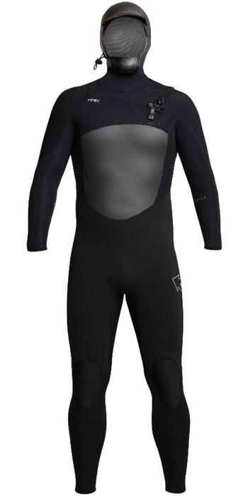 2020 Xcel Mens Infiniti X2 6/5mm Hooded Chest Zip Wetsuit MQ65ZHN0 - Black