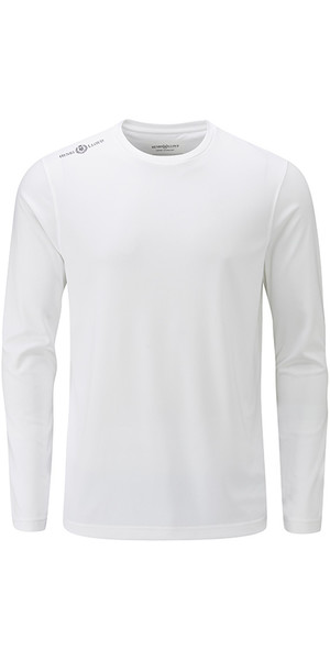 2018 Henri Lloyd Cool Dri Long Sleeve T-Shirt Bright White YI200003