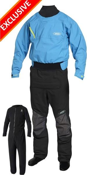 2019 Yak Vanguard Whitewater / Kayak Drysuit Inc Underfleece Blue / Black 2734