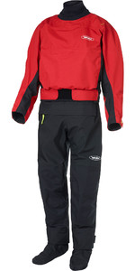 2020 Yak Mens Horizon Kayak Drysuit + Con Zip 6580 - Red
