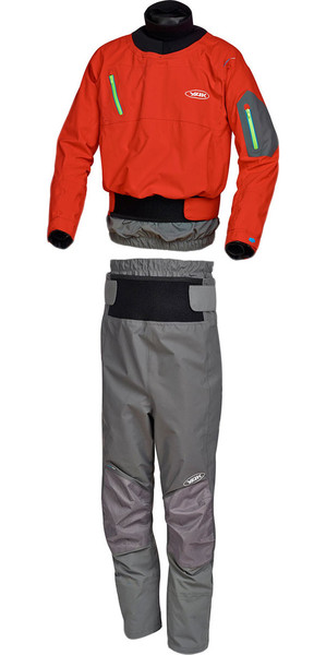 Yak Tomahawk Dry Cag 2727 & Chinook Trouser 2731 Combi Set Red / Grey