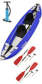 2021 Z-Pro Tango 200 1-2 Man Inflatable Kayak TA200 BLUE + 2 FREE PADDLES + PUMP