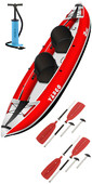 2020 Z-Pro Tango 200 1-2 Man Inflatable Kayak TA200 RED + 2 FREE PADDLES + PUMP