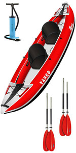 2019 Z-Pro Tango 200 1-2 Man Inflatable Kayak TA200 RED + 2 FREE PADDLES + PUMP