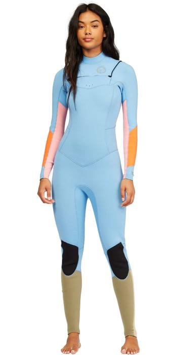 2021 Billabong Womens Salty Dayz 4/3mm Chest Zip Wetsuit Z44G10 - Heat Wave