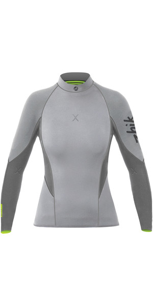 2019 Zhik Womens Superwarm X 3/2mm Neoprene Top GREY DTP1170W