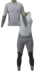 2020 Zhik Superwarm X 3/2mm Neoprene Top & Skiff Wetsuit Combi-Set Grey