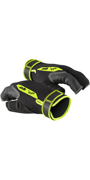 2019 Zhik G2 Half Finger Sailing Gloves Black 0020