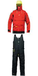 2019 Zhik Isotak 2 Smock SM851 & Salopettes SAL851 Combi Set Flame Red / Black