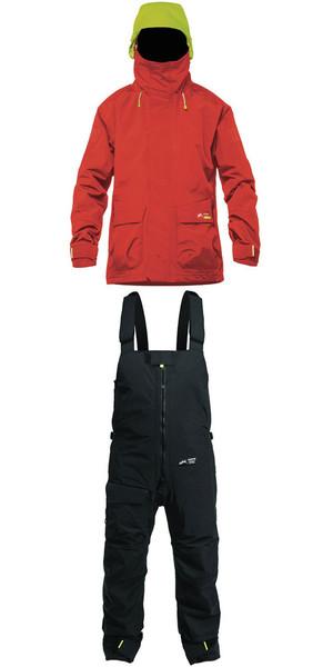 2019 Zhik Kiama X Womens Jacket J401W & Trouser TR101 Combi Set Red / Black