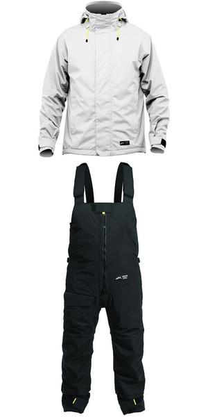 2019 Zhik Kiama Jacket J101 & Trouser TR101 Combi Set Ash / Black